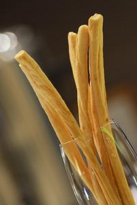 bread stick in luxury hotel