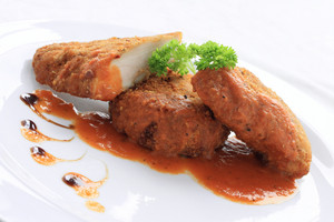 Breaded Chicken Breast With Tomato Sauce