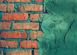 Brick wall with concrete abstract grunge background