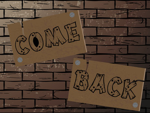Brickwall Backgroundwith Notice Board