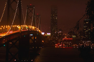 Bridge And City At Night