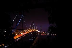 Bridge At Night Background