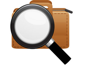 Briefcase With Magnifying Glass