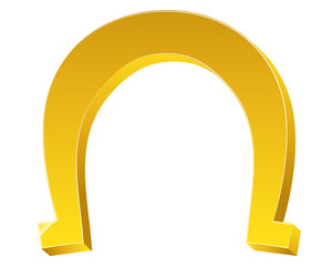 Bright 3d Shape Magnet Horseshoe