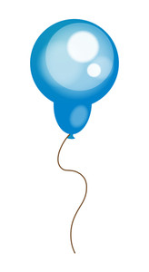 Bright Blue Balloon Shape Vector
