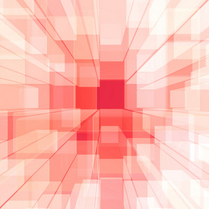 Bright Glowing Pink Glass Background With Artistic Cubes Or Square Shapes