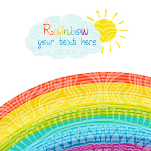 Bright Rainbow Illustration