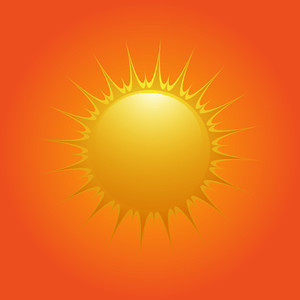 Bright Sun Vector Design