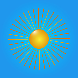 Bright Sun Vector Element