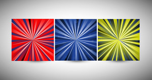Bright Sunburst Backgrounds Vectors