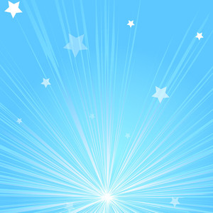 Bright Sunburst Stars Background