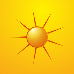 Bright Vector Sun Icon