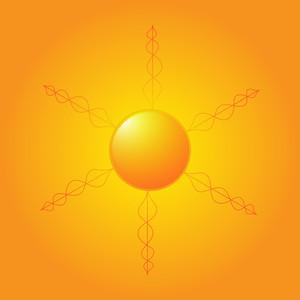 Bright Vector Sun