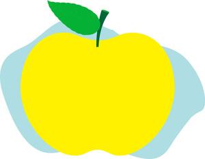 Bright Yellow Apple