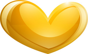 Bright Yellow Heart