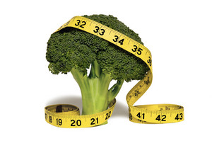 Broccoli With Yellow Measuring Tape