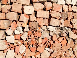 Broken Brick Texture On The Road