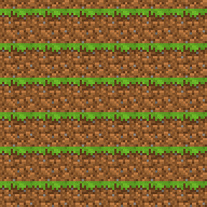 Brown And Green Dirt Minecraft Pattern
