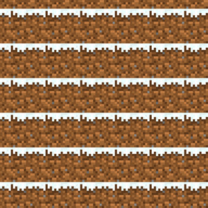Brown And White Dirt Minecraft Pattern
