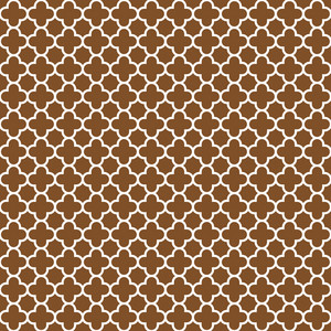 Brown And White Quatrefoil Pattern
