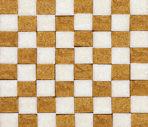 Brown and white sugar checkerboard pattern