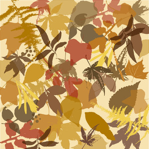 Brown Autumn Leaves Background