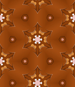 Brown Floral Backdrop