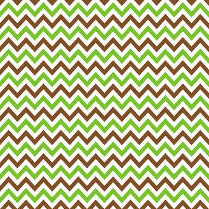 Brown, Green And White Chevron Pattern