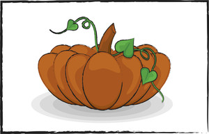 Brown Pumpkin Design