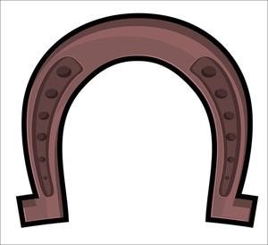 Brown Retro Horseshoe
