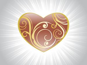 Brown Valentine Card