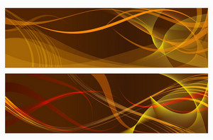 Brown Vector Banners