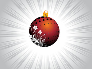 Brown X'mas Flower Print Ball