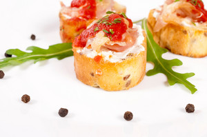 Bruschetta On Plate