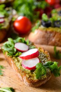 Bruschettas With Pesto