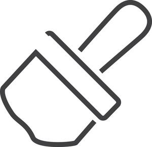 Brush 2 Minimal Icon