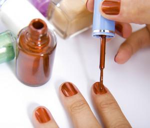 Brushing Nails With Nail Polish
