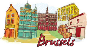 Brussels Vector Doodle