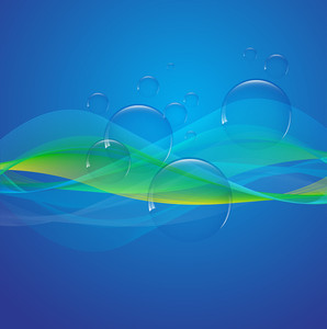 Bubbles On Waves - Vector Background