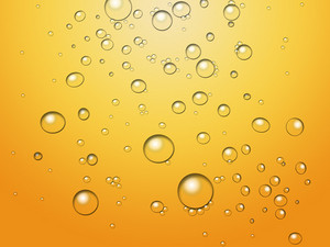 Bubbles On Yellow Background