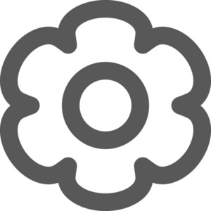 Bubbly Gear Stroke Icon