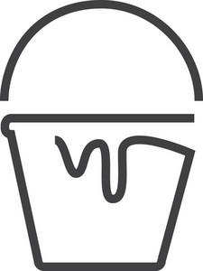 Bucket 2 Minimal Icon