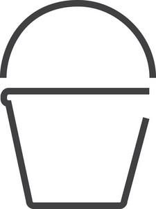 Bucket 3 Minimal Icon