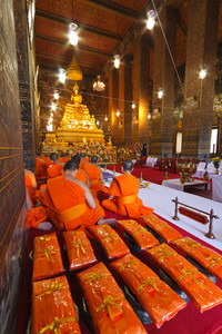Buddha Image And Monks