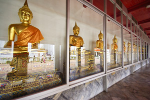 Buddha images in the Wat Pho temple, Bangkok, Thailand