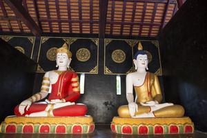 Buddha in Wat Chedi Luang. Chiang Mai