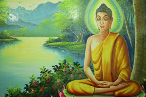Buddha painting in temple