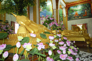 Buddha sleep in temple phuket