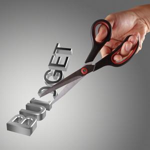 Budget Cuts Symbol