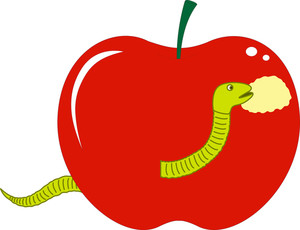 Bug Eating Apple